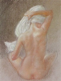 nude with towel by neil forster
