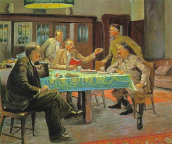 gorki liest stalin vor by viktor nikolaievich govarov