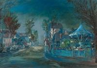 fête foraine au crépuscule by alexei konstantinovich korovin