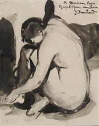 femme nue accroupie by jean bouchaud