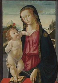 the madonna and child by davide bigordi ghirlandajo