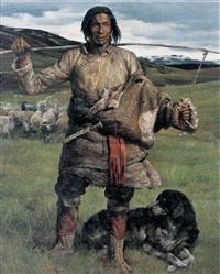 tibetan shepherd by li zhongliang