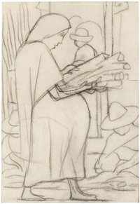 untitled (study for mural) by diego rivera
