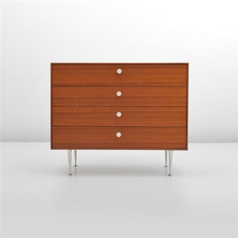 thin edge four drawer dresser two drawers with separators by george nelson