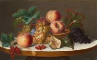 still lifes with fruits (pair) by ange louis guillaume lesourd-beauregard