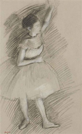 etude de danseuse by edgar degas