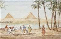 halte devant les pyramides, guizet by jules rabannes