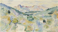 paysage by henri edmond cross