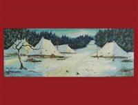 winterlandschaft by johann othmar döbeli