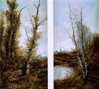 paisaje con árboles by ramiro lafuente