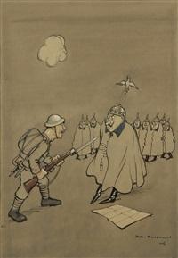 the kaiser meets thomas atkins by henry mayo bateman