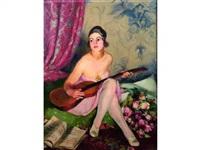 femme à la guitare by josué gaboriaud