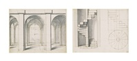 an album of perspective studies (album w/c.45 works) by flemish school (18)
