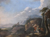 apollon et marsyas by abraham genoels