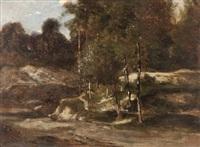 lisière en forêt (study) by jean-alexis achard