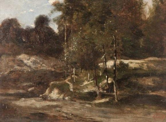 lisière en forêt study by jean alexis achard
