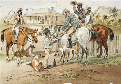 kangarooers returning by samuel thomas gill