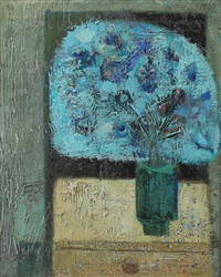 still life in blue by sever frentiu