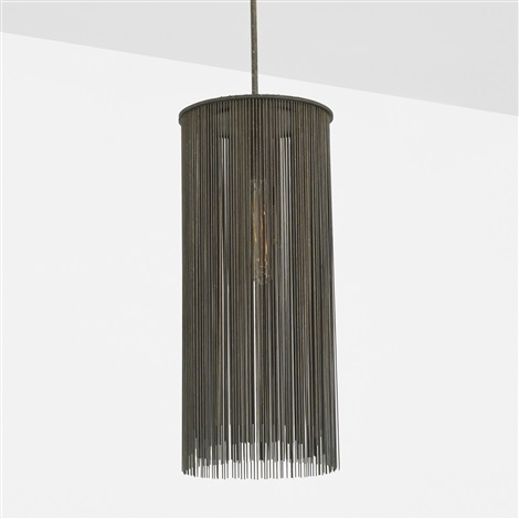 untitled suspended lamp form by harry bertoia