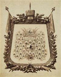 les hussards du régiment de grodno à leur ancien chef de brigade général-major nicolas ivanoff by jan mieczkowski