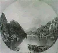 gebirgige seelandschaft by g. f. bucharan