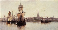 le port d'anvers by louis fréret