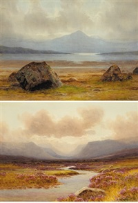 ganiamore from carrigart (+the glenveagh hills, donegal; pair) by george drummond fish