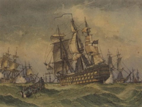 victory joins the fleet 16 september 1805 by william mcdowell