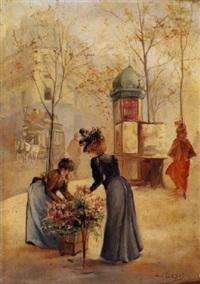 la marchande de fleurs by léonie le bas
