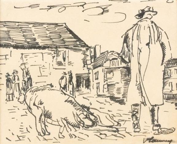normandie paysan au cochon by maurice de vlaminck