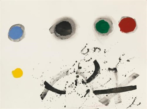 floating by adolph gottlieb