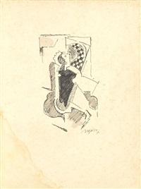 etude de personnage : l'écolier (study) by albert gleizes