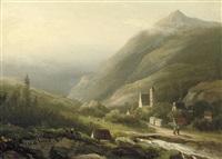 along an alpine river by cristianus hendricus de swart