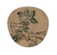 花鸟团扇 by ren bonian
