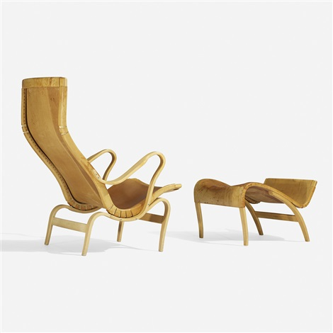 pernilla 2 chair and ottoman by bruno mathsson