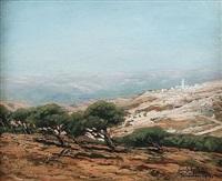 vue de jerusalem by louis gustave cambier