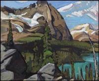 canadian rockies by arthur lismer