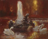 le lac des cygnes by gaston la touche