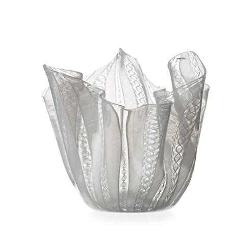 A Fazzoletto Glass Vase Venini Murano Italy 1950s By Fulvio