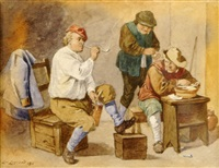 les fumeurs de pipe by louis auguste mathieu legrand