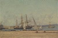 segelschiffe im hafen by victor de papelen (papeleu)
