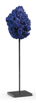 untitled blue sponge sculpture (se 307) by yves klein