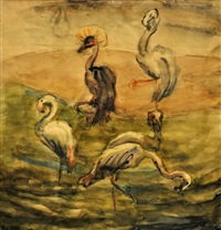 les flamants roses by lou (lazar) albert-lazard