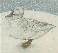 snow duck by gary anderson