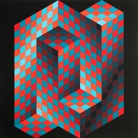 gestalt 4 by victor vasarely