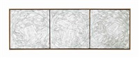 the norman lewis triptych 3rd set by jack whitten