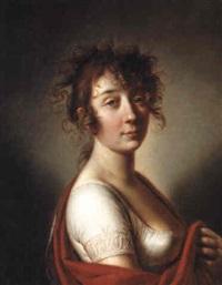 portrait of a lady by mikhail ivanovich antonov