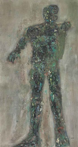 male figure by leon golub