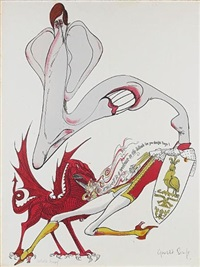 prince charles's investiture by gerald scarfe