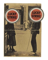 untitled (james joyce and sylvia beach double lucky) by ray johnson